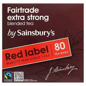Sainsbury's : thé Fairtrade extra strong
