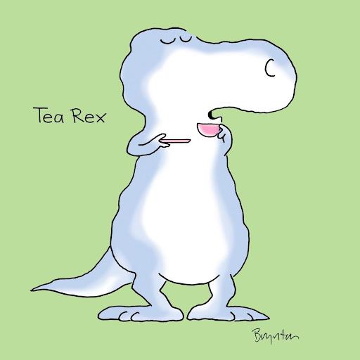 Tea Rex : le dinosaure Rex prend un thé