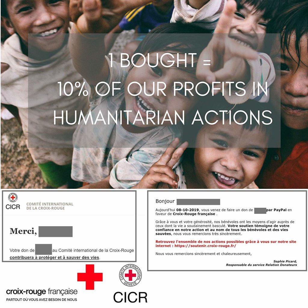10% chaque achat filtre thé : Offre Croix Rouge et Limmus